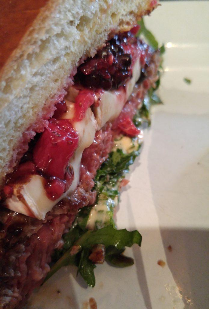 grange hall burger bar berries and brie burger